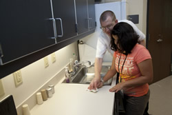 Students learn to keep their homes clean